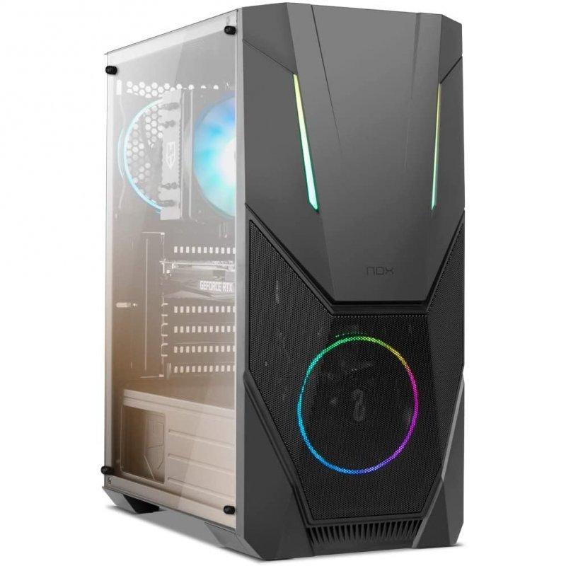 Caja PC ATX Nox Infinity Delta con Ventana Lateral Negro