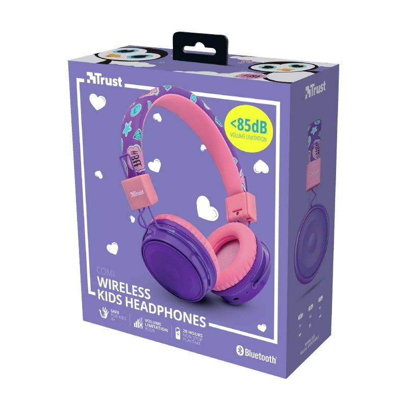 Auriculares Infantiles Bluetooth Trust Comi Purple