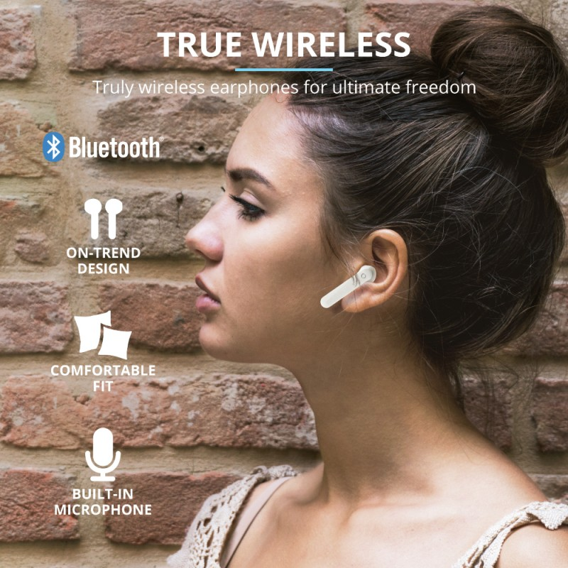 Auriculares Bluetooth Trust Primo Touch Blanco