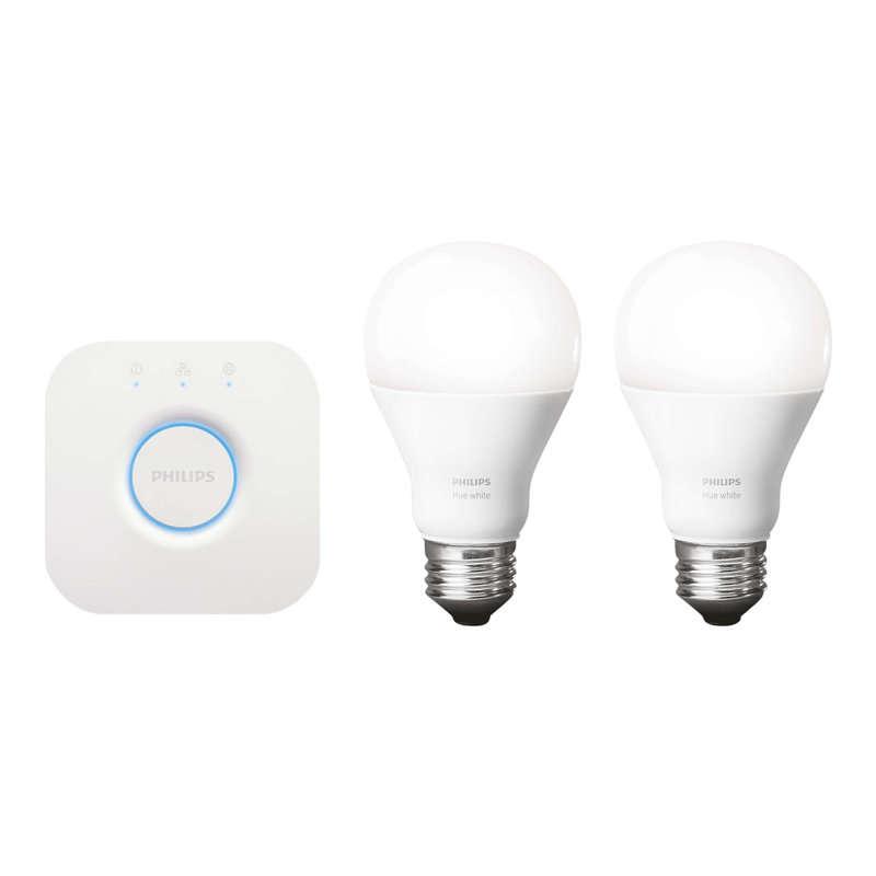 Pack 2 Bombillas Inteligentes LED E27 9W + Puente Philips Hue Starter Kit