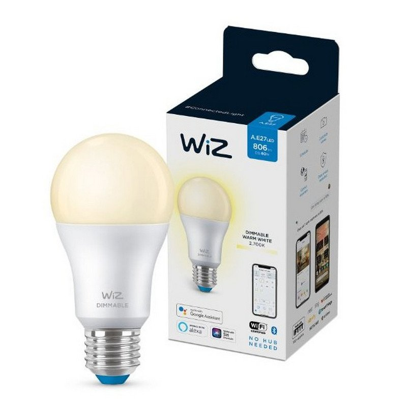 Bombilla Inteligente WIZ A60 Dimmable Wi-Fi + Bluetooth E27 8W