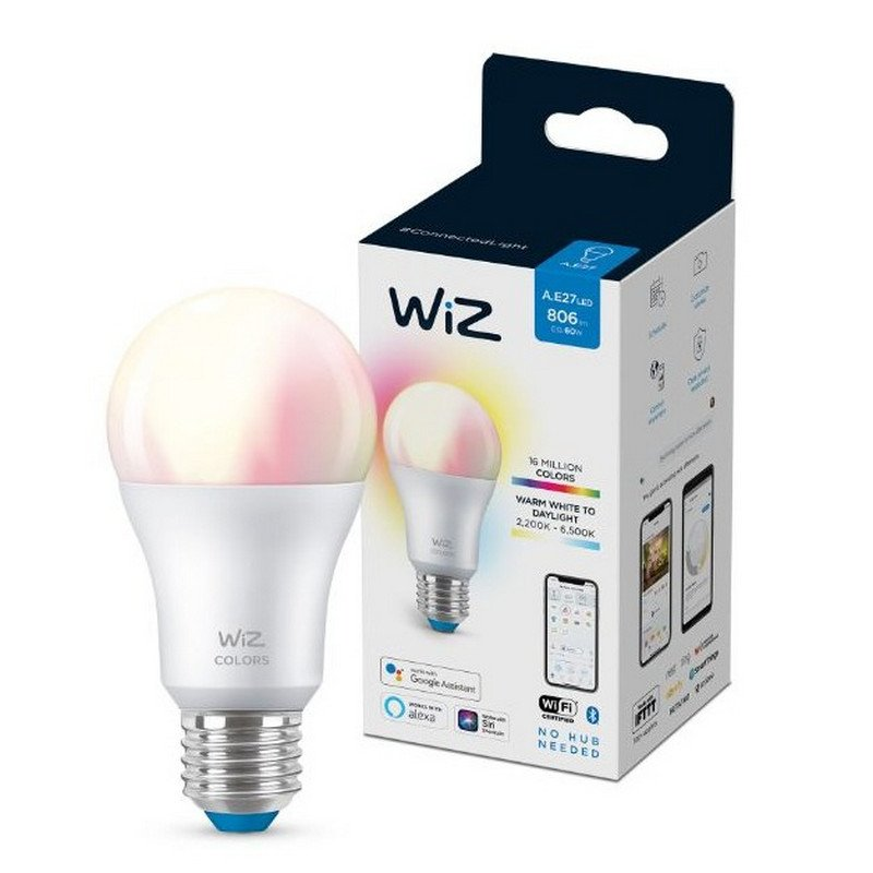Bombilla Inteligente WIZ A60 Colors RGBW E27 8W
