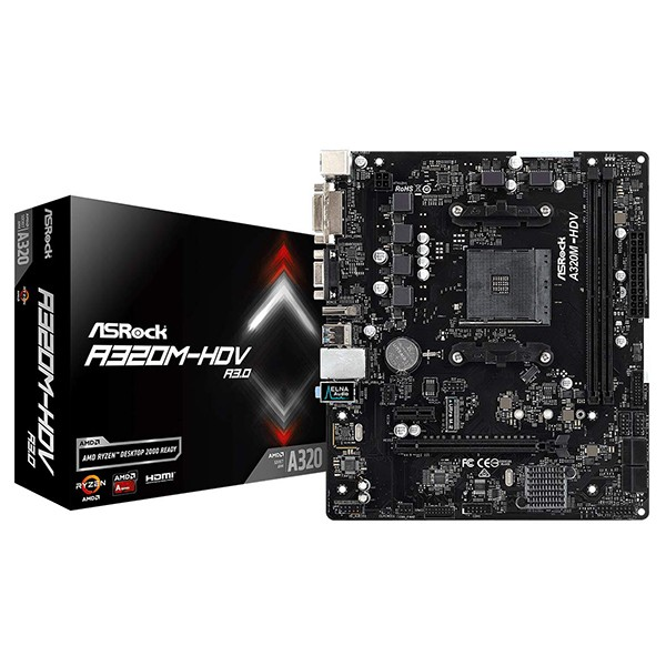 Placa Base ASRock AB320M-HDV R3.0 mATX Socket AM4