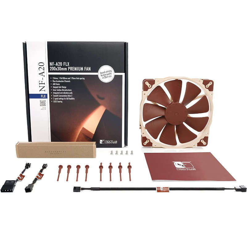 Ventilador PC Noctua NF-A20 FLX 200mm