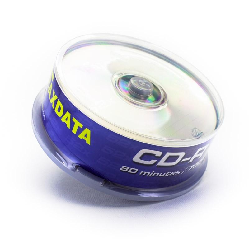 CD-R 52X 700MB Traxdata CD-R80 Tarrina 25 uds
