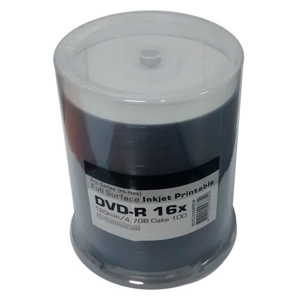 DVD-R 16X Ritek Pro-Series Printable FF White Tarrina 100 uds