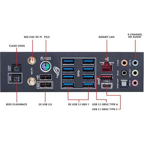 Placa Base Asus ROG Crosshair VII Hero (WI-FI) X470 ATX Socket AM4