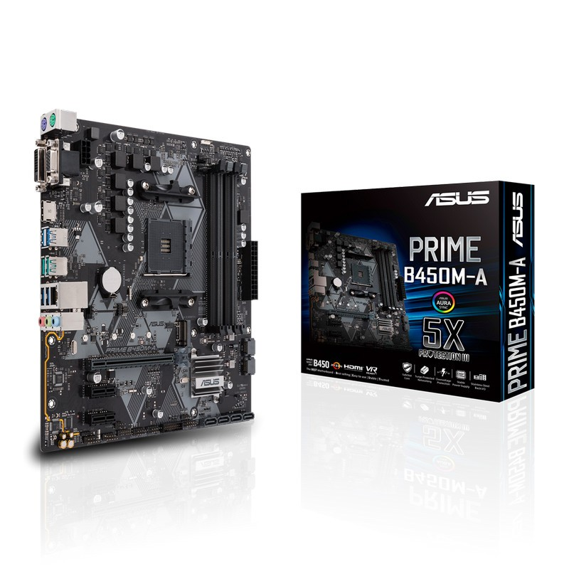 Placa Base Asus PRIME B450M-A mATX Socket AM4