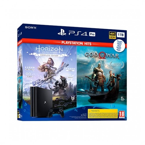 Sony PlayStation 4 Pro 1TB + God Of War + Horizon