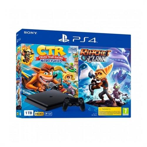 Sony PlayStation 4 Slim 1TB + Ratchet&Clank + Crash Team Racing