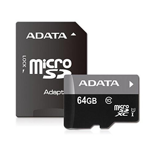 Tarjeta MicroSDXC 64GB Clase 10 UHS-I ADATA Premier - c/adapt