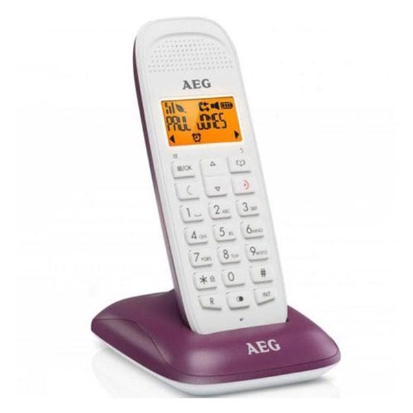 Telefono Inalambrico AEG Voxtel D81 Blanco/Morado