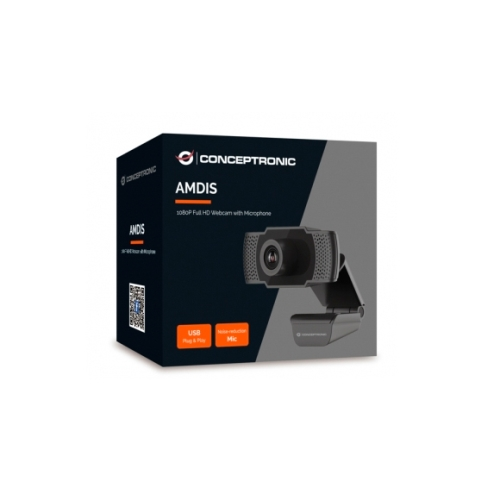 Webcam Full HD 1080p Amdis Conceptronic AMDIS01B