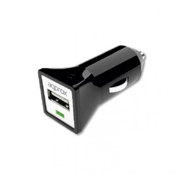 Cargador Universal USB para Coche Approx Negro (1A)