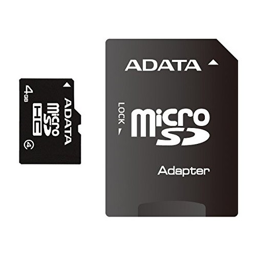 Tarjeta MicroSDHC 4GB Clase 4 A-Data c/Adapt