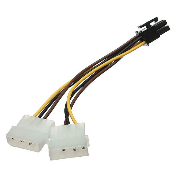 Cable adaptador de alimentacion PCI-Express Molex a 6 Pines