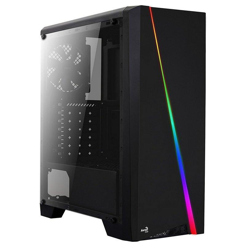 Caja PC ATX Aerocool Cylon RGB Con Ventana Negro