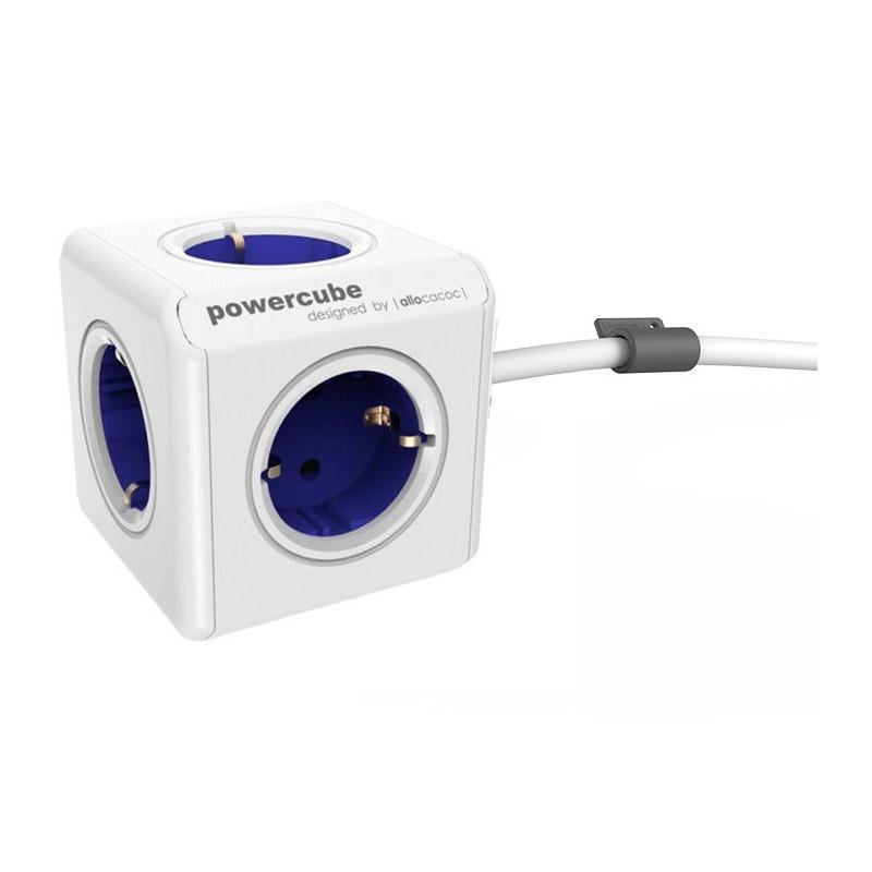 Regleta Allocacoc PowerCube 5 Tomas 1.5M Azul