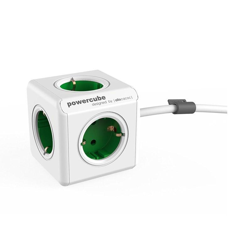 Regleta Allocacoc PowerCube 5 Tomas 1.5M Verde