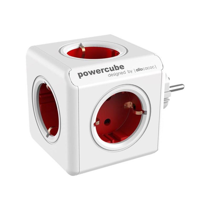 Regleta Allocacoc PowerCube 5 Tomas Rojo