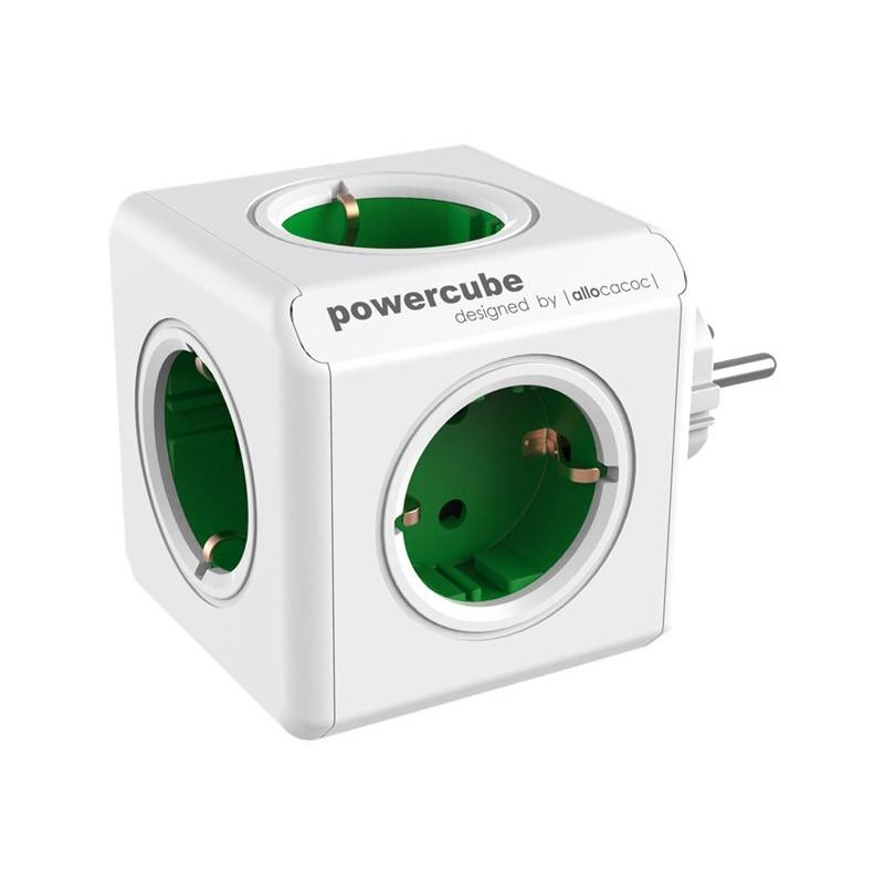 Regleta Allocacoc PowerCube 5 Tomas Verde