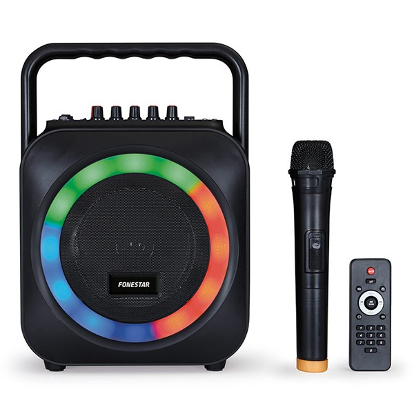 Altavoz Karaoke GH Fonestar Box-35LED Bluetooth+Micrófono+LED