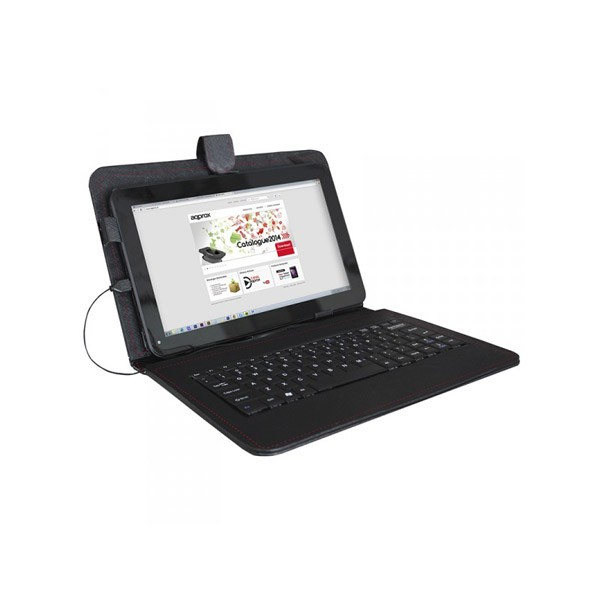 Funda universal con teclado usb para tablet 10 1 approx negro - Funda universal tablet 10 1 ...