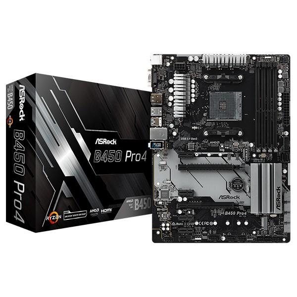 Placa Base ASRock B450 Pro4 ATX Socket AM4