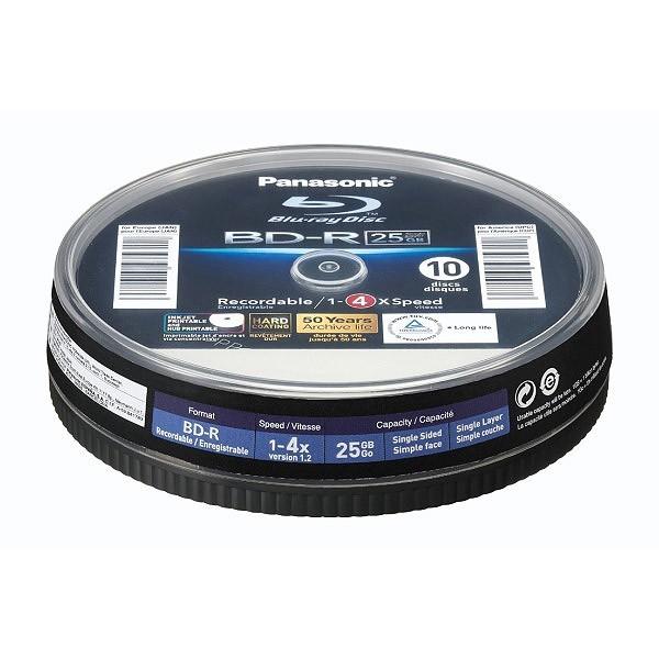 blu-ray-bd-r-sl-25gb-4x-panasonic-ff-inkjet-printable-tarrina-10-uds