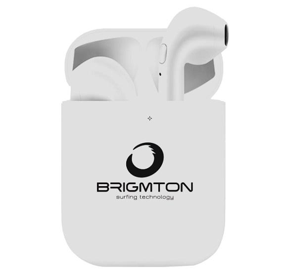 Auriculares Bluetooth con Base de Carga Brigmton BML-18 Blanco