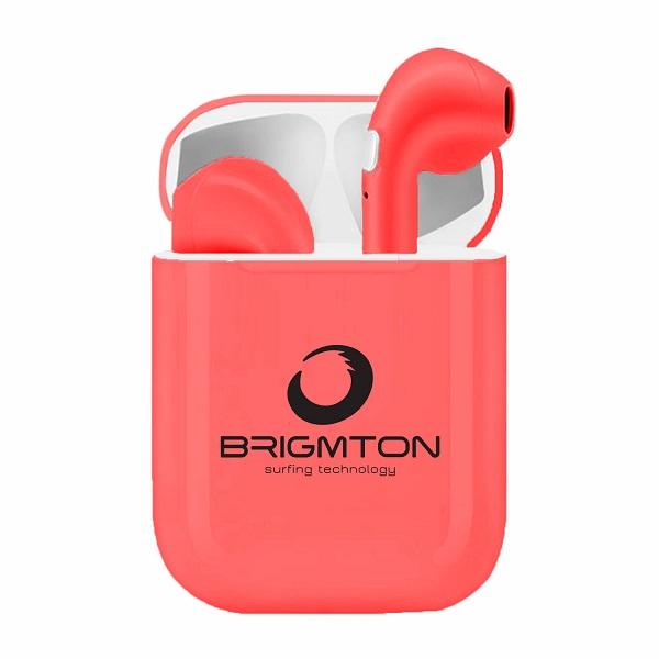 Auriculares Bluetooth con Base de Carga Brigmton BML-18 Rojo