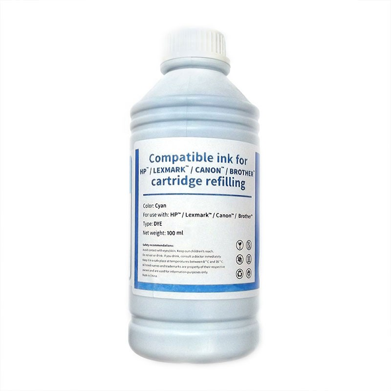 HP/Lexmark/Canon/Brother Bote Tinta Compatible para Recarga Cian 100ml