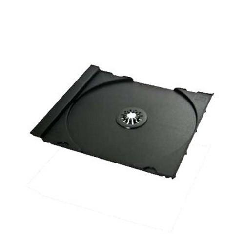 Bandeja para 1 cd tray jewelbox negra mediarange 200 uds  empaquetado automático