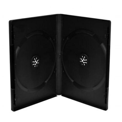 Mediarange caja dvd doble 14mm 100 uds - negro