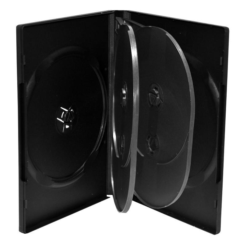 MediaRange Caja DVD para 6 discos Pack 5 uds