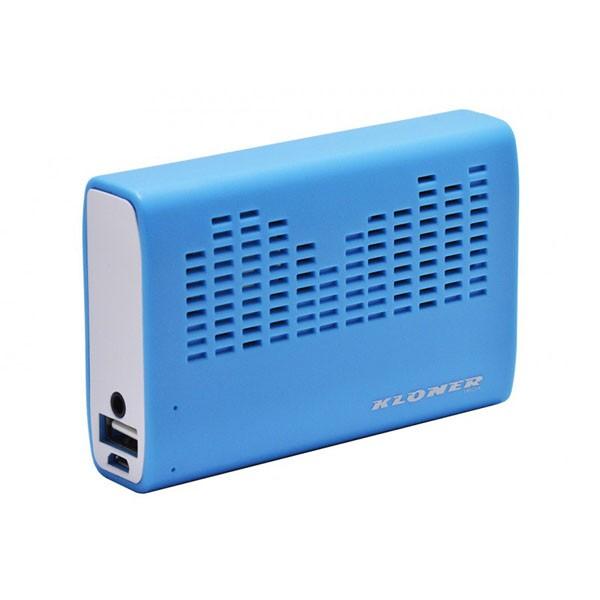 Bateria Universal Power Bank + Altavoz Kloner 3200mAH Azul
