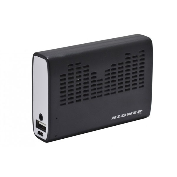 Bateria Universal Power Bank + Altavoz Kloner 3200mAH Negro