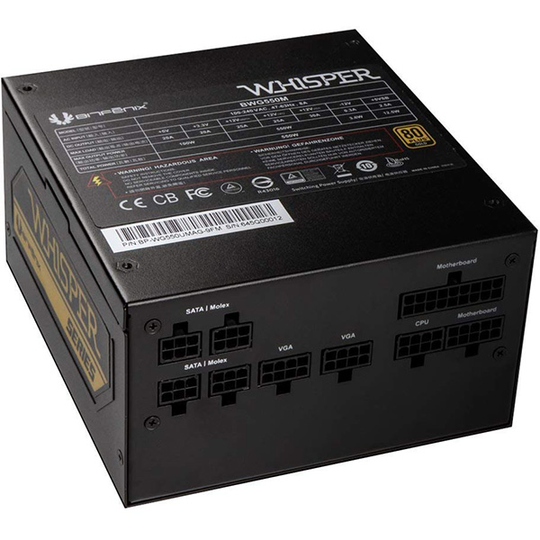 Fuente Alimentación Modular BitFenix Whisper M 550W 80 PLUS Gold