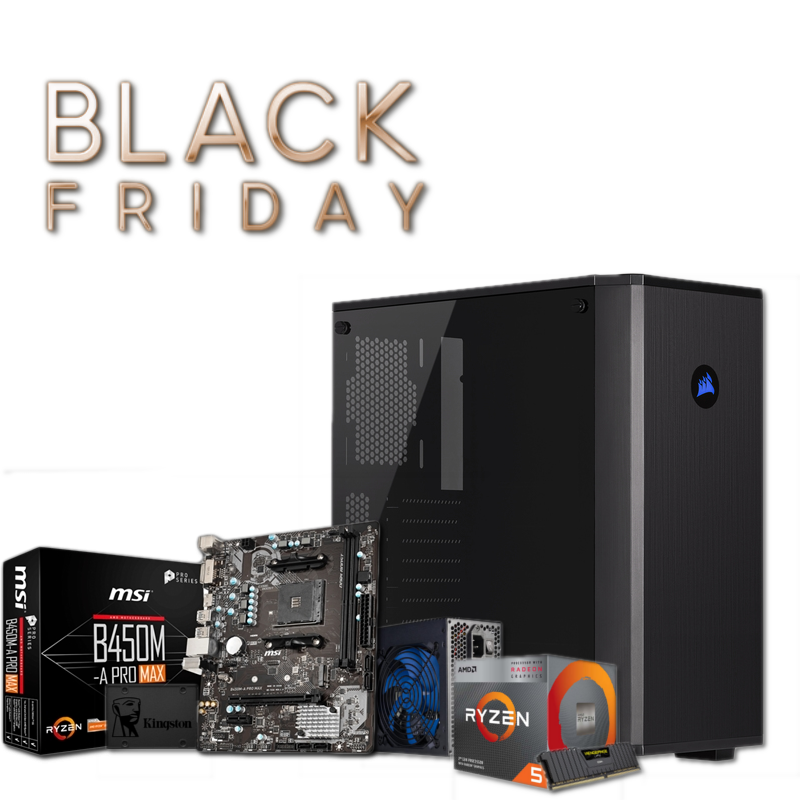 PC GAMING BLACK FRIDAY L Ryzen 5 3400G 8GB 480GB SSD W10