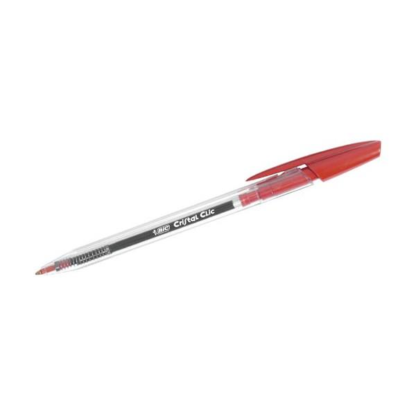 Boligrafo Bic Cristal Clic Rojo