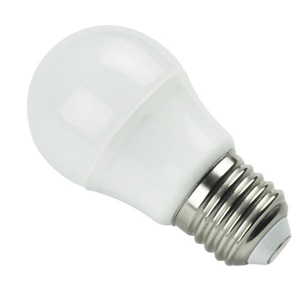 Bombilla LED Bajo Consumo 4W 6400K E27 (325lum) Serie G45