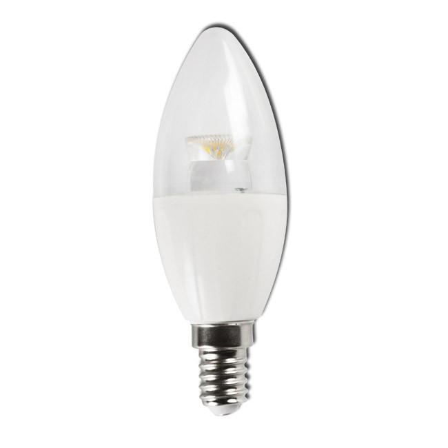 Bombilla LED Bajo Consumo 6W 3000K E14 (380lum) Serie C5-C37