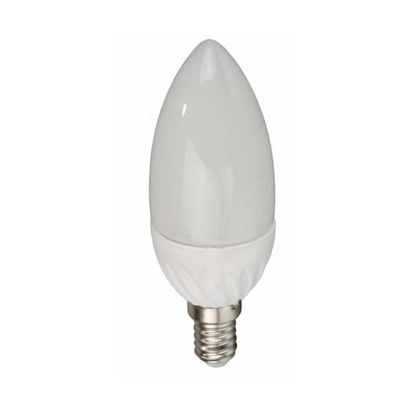 Bombilla LED Vela Bajo Consumo 3W(30W) 6400K E14 (225lu)