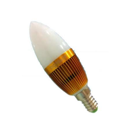 Bombilla LED Vela Bajo Consumo 3W(30W) 3000K E14