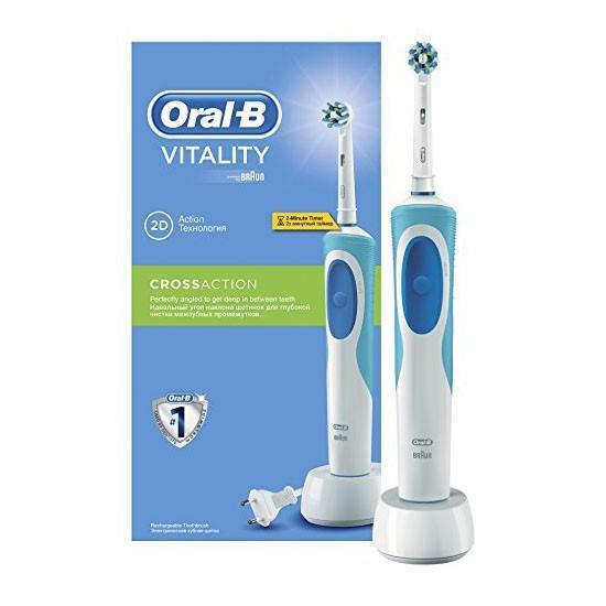 cepillo de dientes el ctrico braun oral b vitality cross action azul. Black Bedroom Furniture Sets. Home Design Ideas