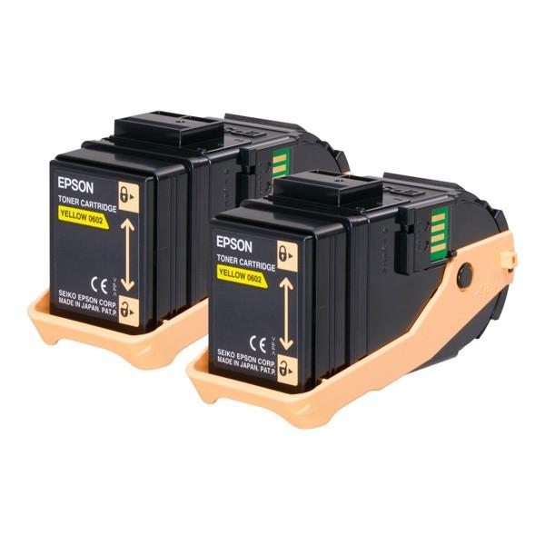 Epson Pack 2 Toner Original AL-C9300 Series C13S050608 Amarillo