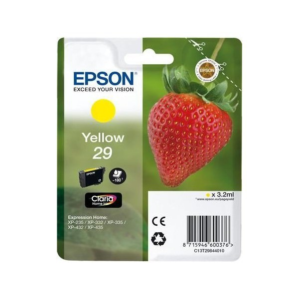 Epson 29 Cartucho de Tinta Original Amarillo