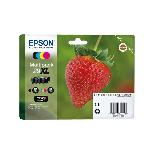 Epson Multipack 29XL Cartucho de Tinta Original Negro + Color
