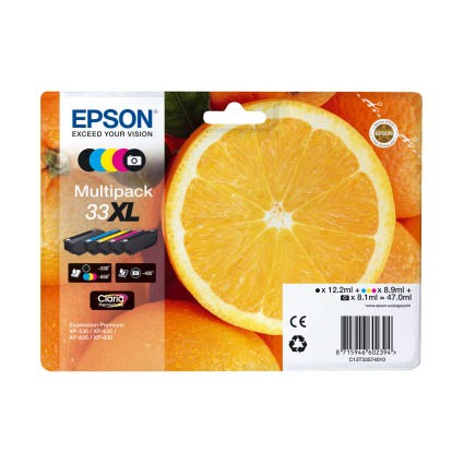 Epson Multipack 33XL Cartucho de Tinta Original 5 Colores