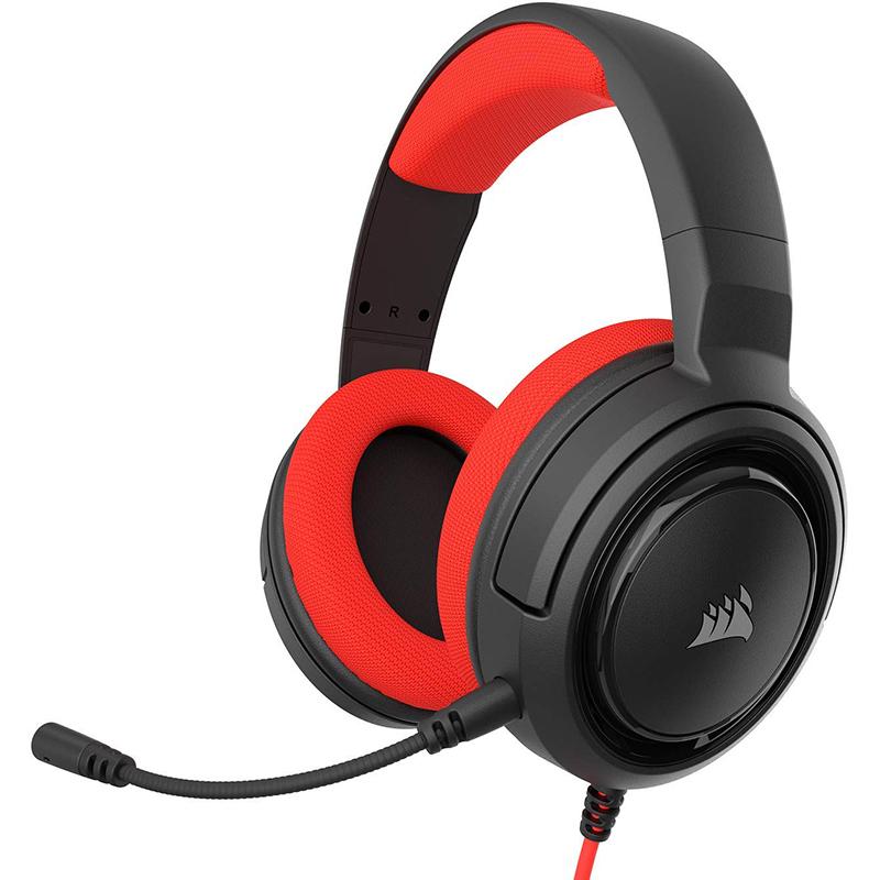 Auriculares Corsair HS35 para PC y Consolas Rojo